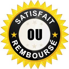 """Sticker """"satisfait ou remboursé"""""""