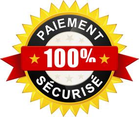 """Sticker """"Paiement 100% sécurisé"""""""
