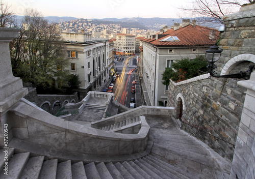 steps towards piazza goldoni in Trieste
