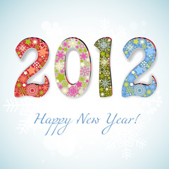 New year 2012 number vector illustration