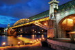 Pushkinsky bridge in Moscow, Russia