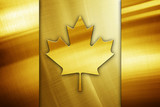 Golden Flag Of Canada