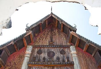 Old teak wood temple.
