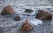 Stones in sea water.