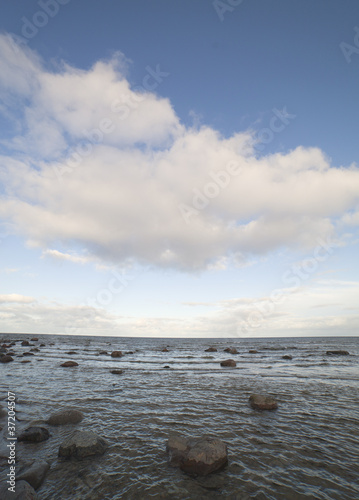 Stones in sea.