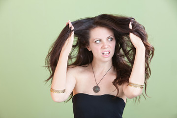 Woman Unhappy With Bad Hair