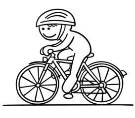figur fährt fahrrad