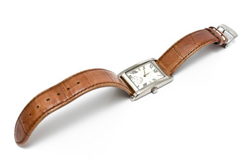 Ladies square wristwatch