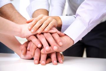 human hands in teamwork