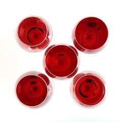 Fünf Gläser Rosé