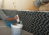 Home improvement - grouting kitchen tiles