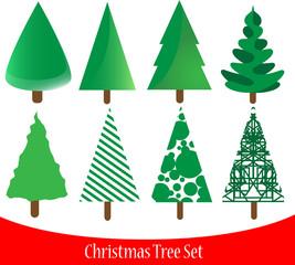 Set of elegant Christmas tree