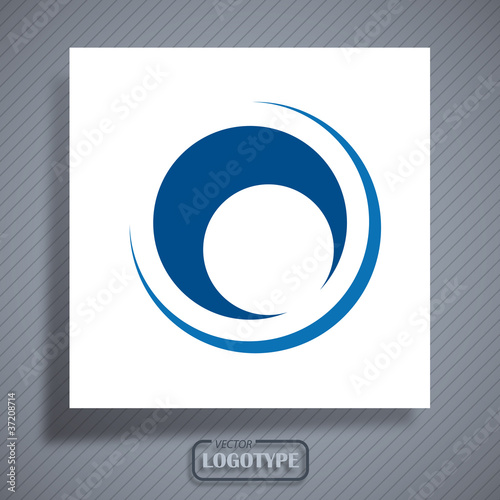 Logo metal pipe, hole # Vector