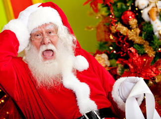 Santa worried about wish list