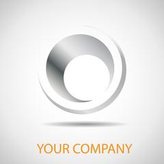 Logo metal pipe, hole # Vector