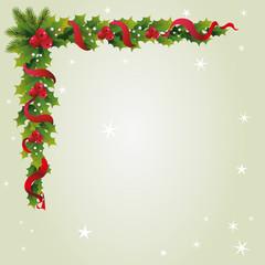 Briefpapier mit Weihnachts Girlande