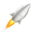 Metal rocket icon