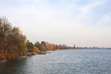 Herbst an der Alten Donau in Wien