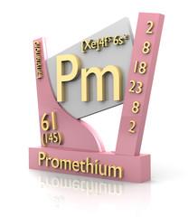 Promethium form Periodic Table of Elements - V2