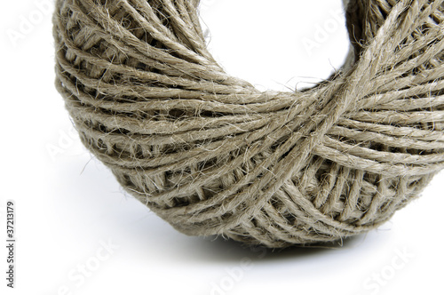 Rope roll isolate on white background