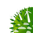 eco background - wind energy - windturbines