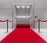 Fototapety Aufzug mit rotem Teppich