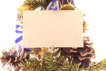 pino natalizio con biglietto