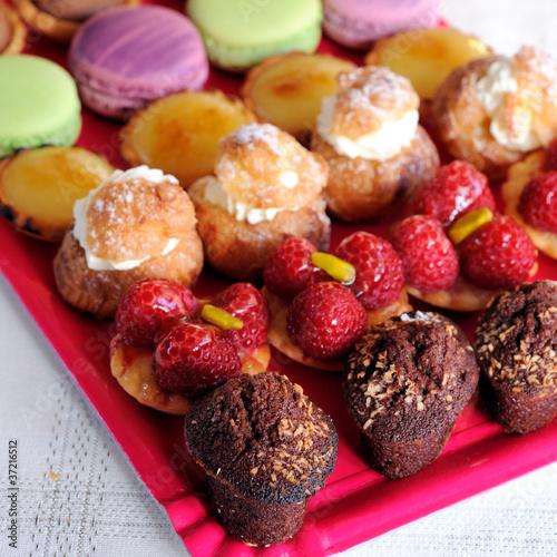 plateau de desserts, mignardises