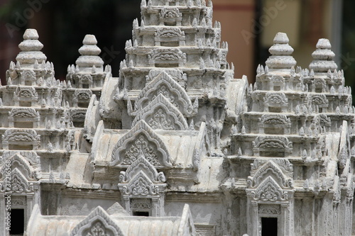 Model of Ankor wat, Cambodia.