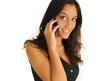 Indische Geschäftsfrau beim Telefonieren