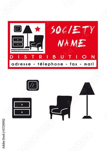 logo carte soci 233 t 233 meuble distribution mobilier de crb98 fichier vectoriel libre de droits