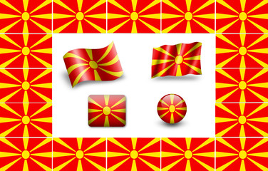 Flag of Macedonia. icon set