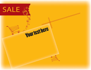 Vector background of Sale