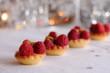 tartelettes aux framboises, ambiance festive