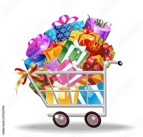 Carrello Spesa Acquisti di Natale-Christmas Shopping Cart
