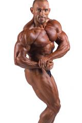 bodybuilder flexing