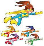 Young superheroes. Vectori solated characters