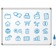 Web icons, buttons Whiteboard vector