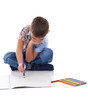 adorable little boy drawing