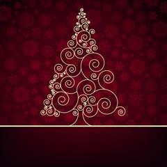 Retro christmas card Template. EPS 8