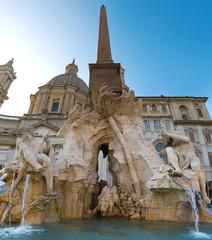 Fontana dei quatto fiumi a Piazza Navona, Roma