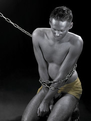 chained silver slave
