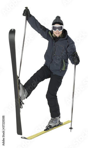 weird skiing girl