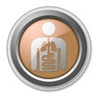"Bronze 3D Style Button ""Internal Medicine"""
