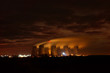 cooling towers night