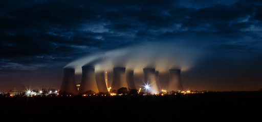 night time cooling towers