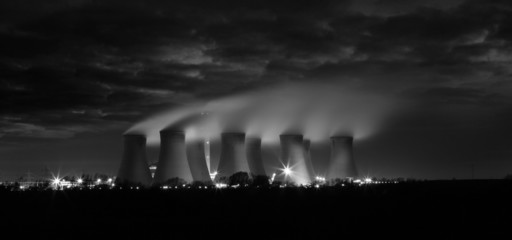 night time power station
