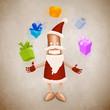 Santa Claus robot juggler