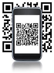 Smartphone et code QR