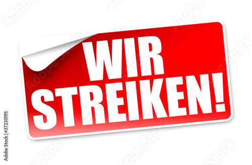 Wir streiken! Button, Icon